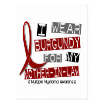 MULTIPLE MYELOMA I Wear Burgundy Mother-In-Law Postcard