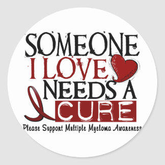 Multiple Myeloma NEEDS A CURE 1 Classic Round Sticker
