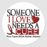 Multiple Myeloma NEEDS A CURE 1 Round Stickers
