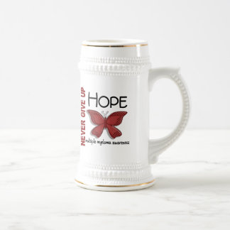 Multiple Myeloma Never Give Up Hope Butterfly 4.1 Beer Stein