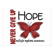 Multiple Myeloma Never Give Up Hope Butterfly 4.1 Postcard