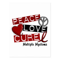 Multiple Myeloma PEACE LOVE CURE 1 Postcard