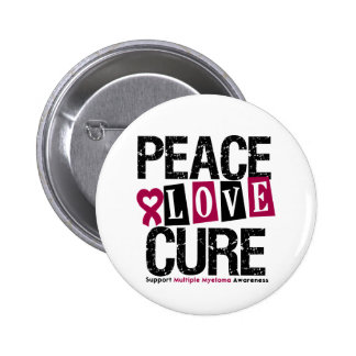 Multiple Myeloma Peace Love Cure Button