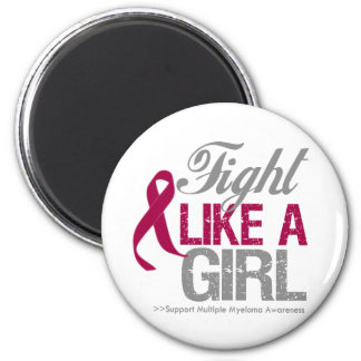 Multiple Myeloma Ribbon - Fight Like a Girl Magnet