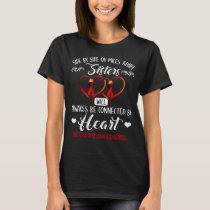 multiple myeloma sisters connected by heart T-Shirt