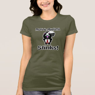 Multiple Myeloma Stinks Skunk Awareness Design T-Shirt