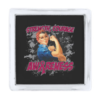 Multiple Myeloma Strength Courage Awareness Silver Finish Lapel Pin