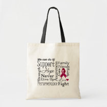 Multiple Myeloma Supportive Words Tote Bag