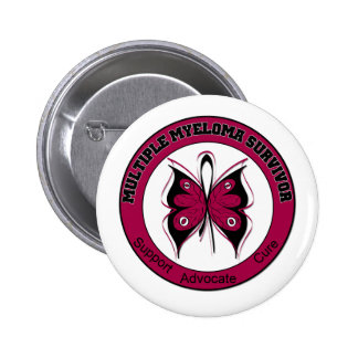 Multiple Myeloma Survivor Butterfly Button