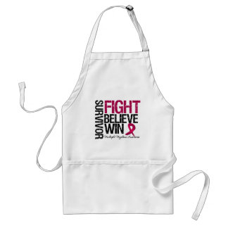 Multiple Myeloma Survivor Fight Believe Win Motto Aprons