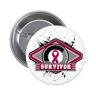 Multiple Myeloma Survivor Grunge Logo Button
