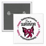 Multiple Myeloma Survivor Hope Determination Faith Pin