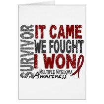 Multiple Myeloma Survivor It Came We Fought I Won Card