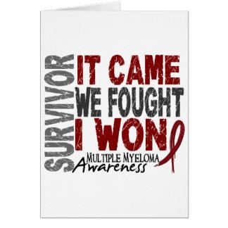 Multiple Myeloma Survivor It Came We Fought I Won Greeting Card