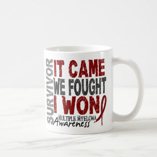 Multiple Myeloma Survivor It Came We Fought I Won Coffee Mug