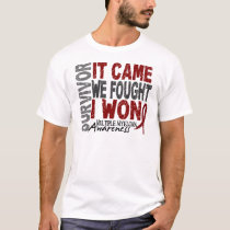 Multiple Myeloma Survivor It Came We Fought I Won T-Shirt