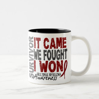Multiple Myeloma Survivor It Came We Fought I Won Two-Tone Coffee Mug