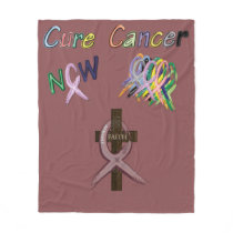 Multiple Myeloma Survivor Ribbon Fleece Blanket