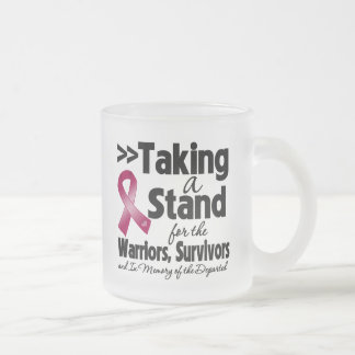Multiple Myeloma Taking a Stand Tribute 10 Oz Frosted Glass Coffee Mug
