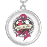 Multiple Myeloma - Tattoo Heart Fight Like A Girl Necklace