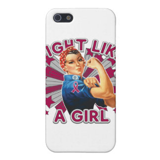 Multiple Myeloma Vintage Rosie Fight Like A Girl iPhone 5 Case