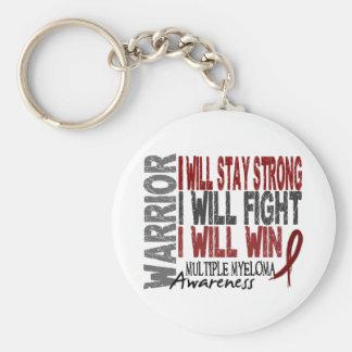 Multiple Myeloma Warrior Basic Round Button Keychain
