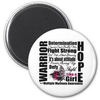 Multiple Myeloma Warrior Fight Slogans Magnets