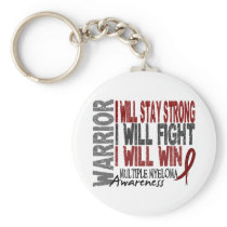 Multiple Myeloma Warrior Keychain