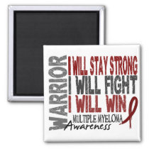 Multiple Myeloma Warrior Magnet