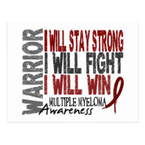 Multiple Myeloma Warrior Postcard