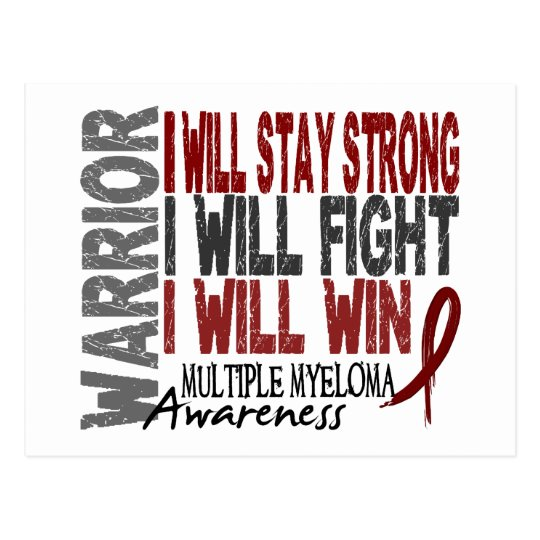 Multiple Myeloma Warrior Postcard
