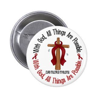 Multiple Myeloma WITH GOD CROSS 1 2 Inch Round Button