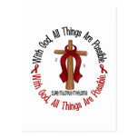 Multiple Myeloma WITH GOD CROSS 1 Postcard