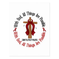 Multiple Myeloma WITH GOD CROSS 1 Postcard