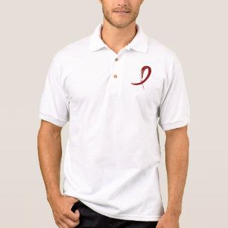 Multiple Myeloma's Burgundy Ribbon A4 Polo Shirt