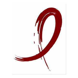 Multiple Myeloma's Burgundy Ribbon A4 Postcard
