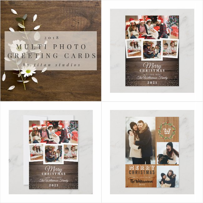 Multiple Photo Christmas Greeting Cards