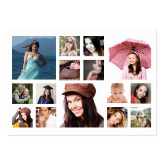 Multiple Photos in Grid Any Business Photography Large Business Cards (Pack Of 100)