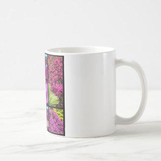 Multiple photos of bougainvillea coffee mug