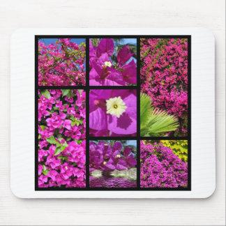 Multiple photos of bougainvillea mouse pad