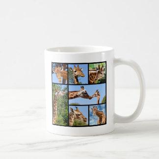 Multiple photos of giraffes coffee mug
