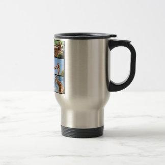 Multiple photos of giraffes travel mug