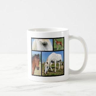 Multiple photos of horses coffee mug