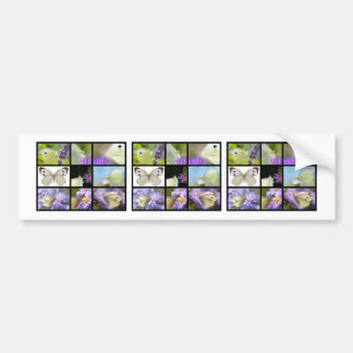 Multiple photos of Large White butterfly Bumper Sticker