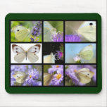 Multiple photos of Large White butterfly Mousepad