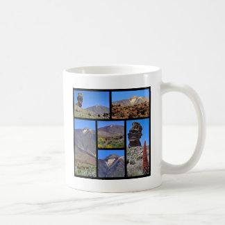 Multiple photos of Mount Teide at Tenerife Coffee Mug