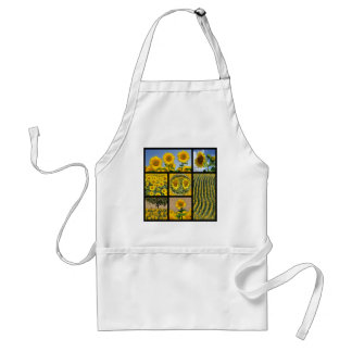 Multiple photos of Sunflowers Adult Apron