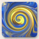MULTIPLE PRODUCTS-ART DESIGN, Yellow and blue Coaster