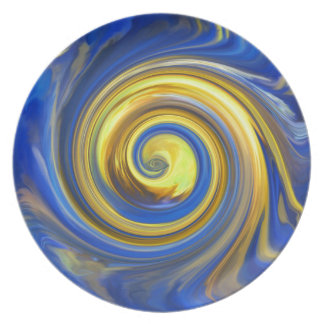 MULTIPLE PRODUCTS-ART DESIGN, Yellow and blue Plate