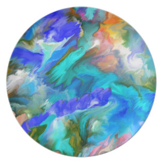 Multiple products- Dancing colors - Abstract53 Plates